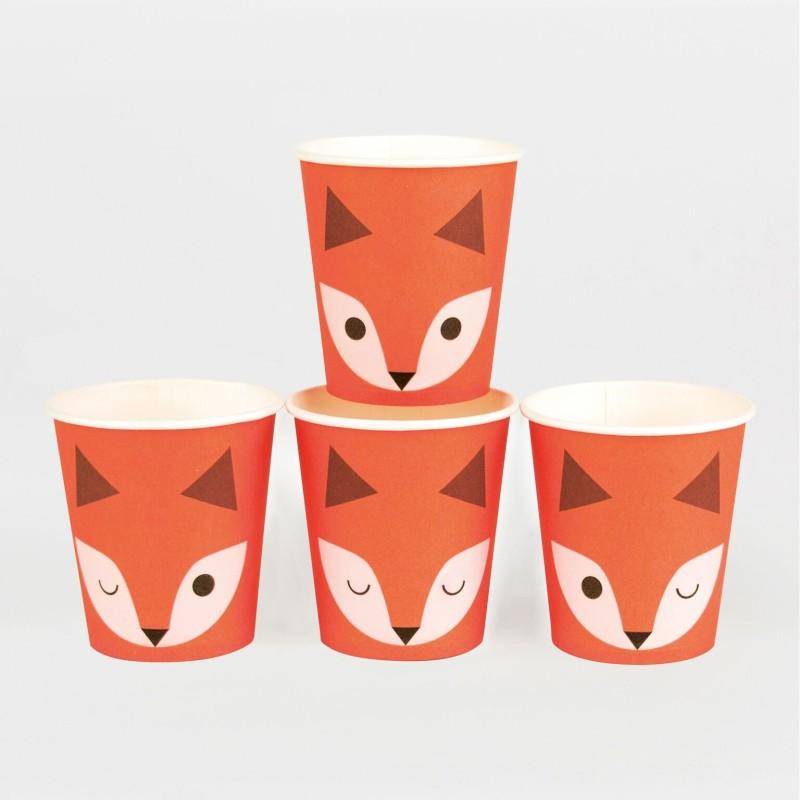 My Little Day - 8 Pappbecher Mini Fuchs